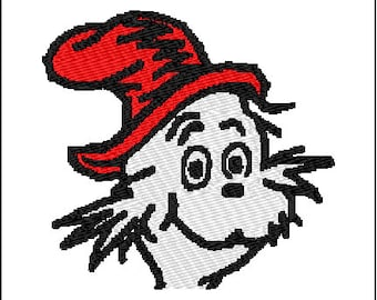 Dr Seuss Cat in the Hat Embroidery Design