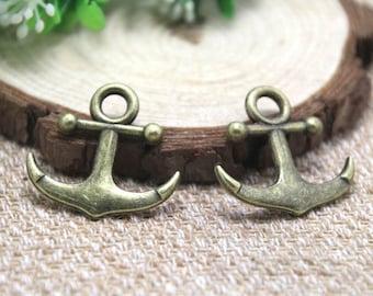 8pcs--Anchor charms, Antique bronze Anchor Charm Pendants 30x28mm D1798
