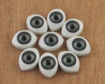 Free Shipping!!10pair Doll Eyes Plastic Eyes Craft Eyes Flat Back,eye wholesale,doll supplies,eyes supplies --11x15mm