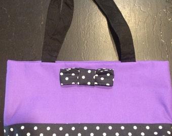 Purple Bow Tie Bag
