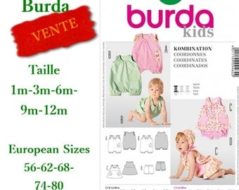 SALE 20%, Burda 9462, Baby Models, dress, pants, boy, girl, one month to 12 months, new, uncut, never used
