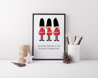 Nursery Rhyme Prints, London Prints, Nursery Print
