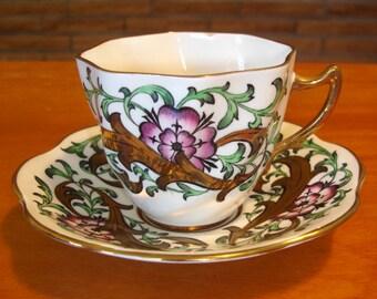 Vintage Tea Cup, Saucer, bone china, Rosina