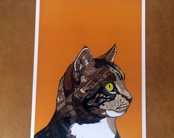 Orange Cat - A4 Print (Signed and Numbered)