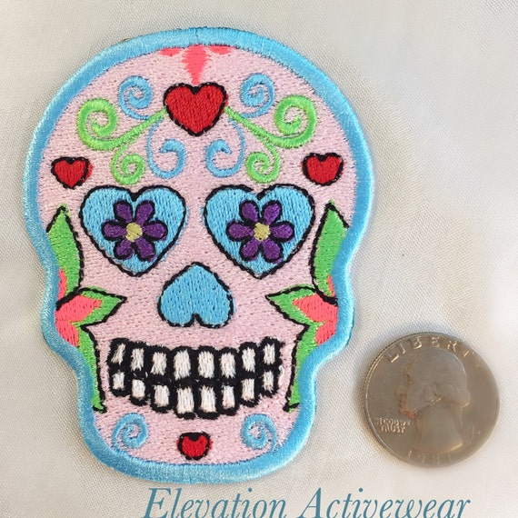 Items similar to Sugar Skull Patch - Iron On Patch - Day ...