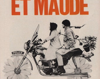 Harold and Maude (French) - Poster/Print with Black Card Frame and Mount (23CM X 17CM)