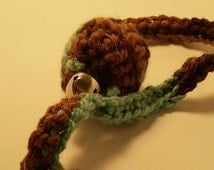 Crochet catnip ball with bell - crochet ball - catnip ball - ball cat toy - finger loop cat toy