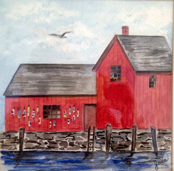 Stall Trap Bay From 175 00: Motif 1 Original Watercolor Painting By The By Joieoriginals
