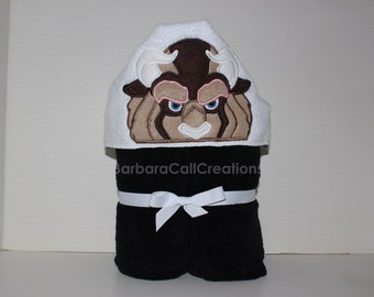 Hooded Bath Towel - Beast