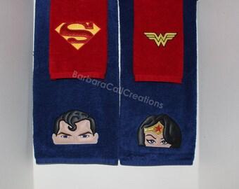 Bathroom Towel Set - Super Heros