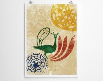 Bird // Art print // New Home Housewarming Gift // Home decor // Wall art