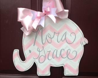 Baby Girl Sign/Hospital Door Hanger/New Baby Sign/The Gilded Polka Dot