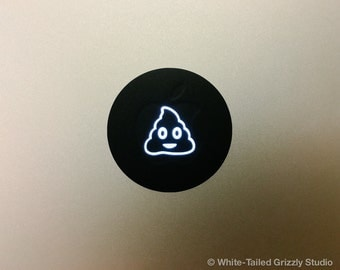 POOP EMOJI MACBOOK Decal - Macbook Apple decal - Macbook Apple light cover - Mac Decal - Apple Laptop - Emoji Decal - Poop Decal
