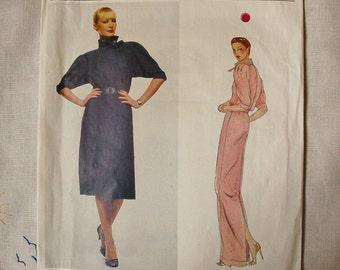 Vintage dress pattern, Vogue 2461, Vogue Designer Original - Jean Muir, 1970s, size 14