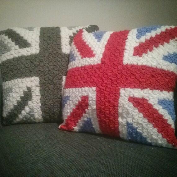 Crochet Pattern Union Jack : Union Jack / British Flag crochet cushion cover pattern