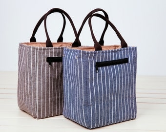 SALE 15% OFF!Drawstring Insulated Lunch Bag.Insulated cooler,Insulated Lunch,Stripes Insulated Lunch Bag/lunch box bag/mini bag for kids