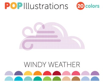 Windy Weather Clip-Art for Commercial Use - A0064