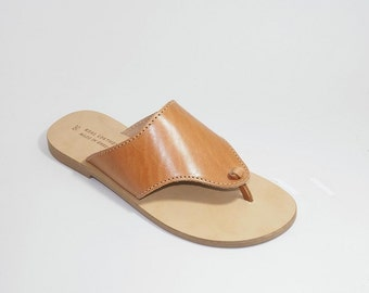 Greek Leather Sandals (39 - Natural leather)