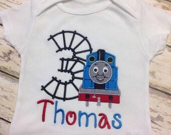 Thomas the Train Birthday Appliqué Shirt.