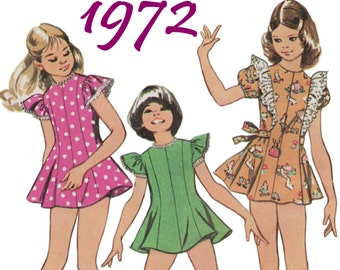 Girls Skate Dress and Panties Kawaii Dress SIMPLICITY 5440 sz 10 b 28.5 UNCUT Girls Mini Dress 1970s Girls Dress Pattern Girls Vintage Dress