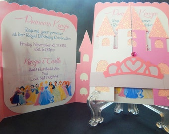 Disney Princess Castle Invitation