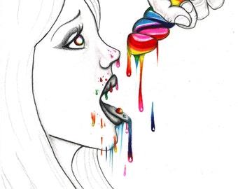 Hard Candy Art Print - Rainbow Erotica