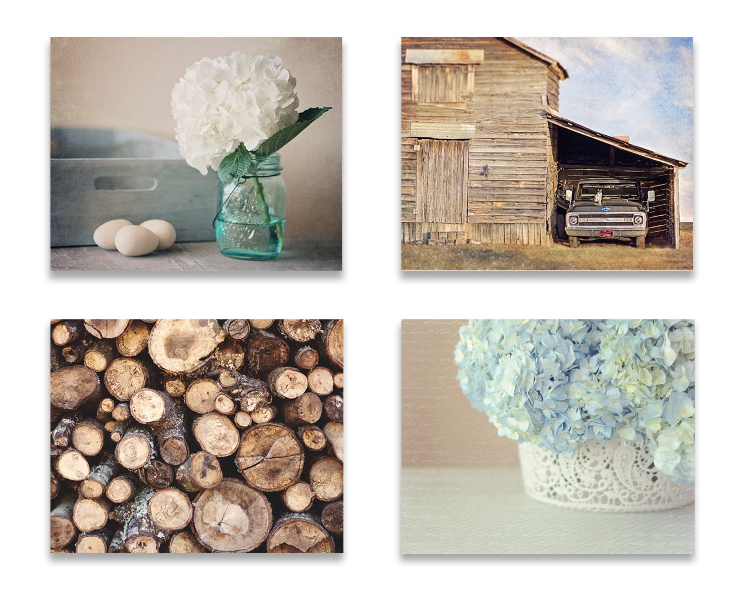 Affordable Rustic Wall Decor : Rustic farmhouse wall art decor set of four