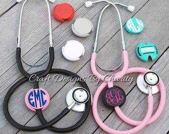 Monogram Stethoscope Name Tag ID Covers - Stethoscope ID Covers - Nurse ID Covers - Nurse Monograms - Nurse Gift - Monogram Stethoscope