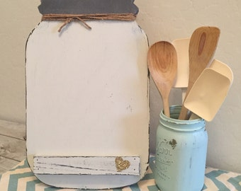 Mason Jar Easel Recipe Stand