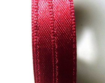 30 meters Satin ribbon 13mm burgundy