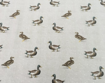 Fryetts Country Mallards 'Ducks' Designer Curtain Fabric - Buy per metre