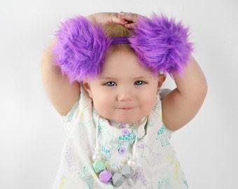 Winter Puff Ball Headband
