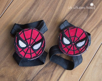 Spiderman Baby Barefoot Sandals, Interchangeable Spiderman Patches for Barfoot Baby Sandals, Boys Barefoot Sandals, Baby Boy Sandals