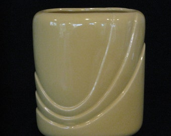 A Vintage yellow art deco vase/planter