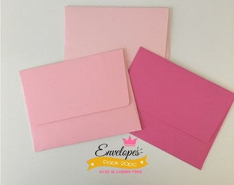 A6 Envelopes for 4 x 6 Photos and Cards, Invitations, Pink, Pack of 20 / A6 envelopes for invitations rose