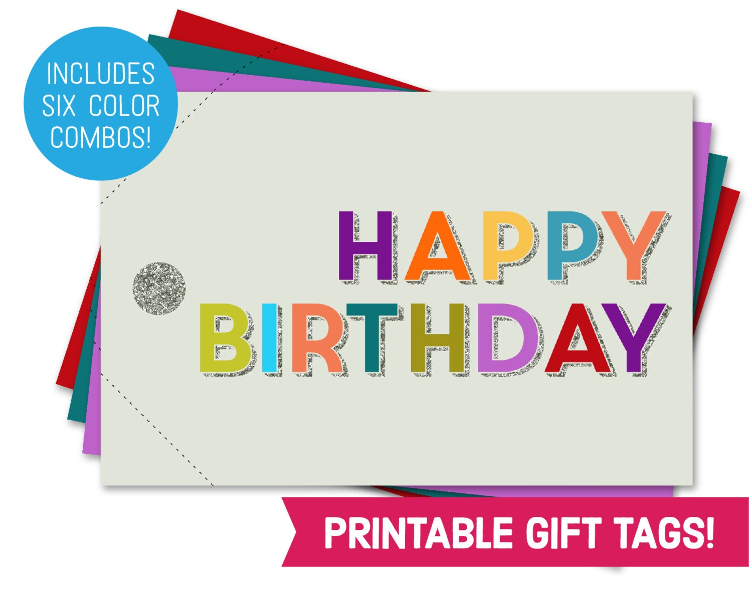 It is an image of Exceptional Happy Birthday Tag Printable