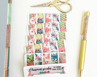 Tropical Garden Page Flag Stickers