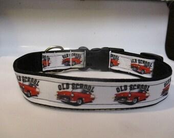 Old School inspired handmade dog collar 57 Chevy