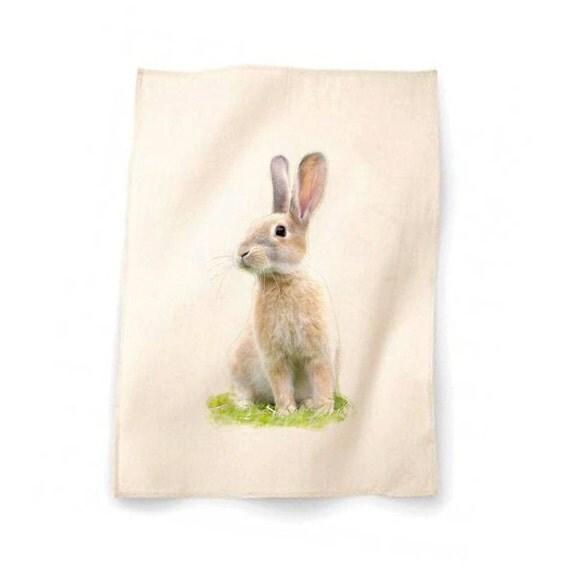 rabbit cotton tea towel kitchen towel towel