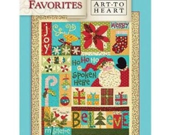 Christmas Favorites, Art To Heart, Christmas Quilt Pattern, Quilt Pattern, Sewing Patterns, by Nancy Halvorsen
