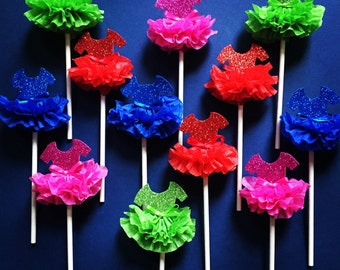 Sparkly Tutu Cupcake Toppers!