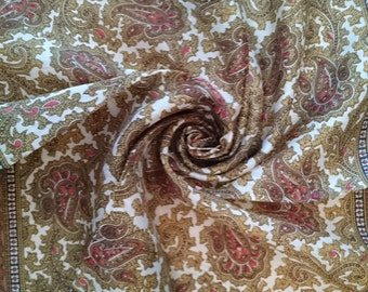 Stunning Vintage Scarf/Handkerchief - Paisley design - Unused and Perfect From 1970s Stock