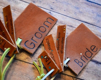 Personalized Leather Luggage Tag: Gift for the couple, Wedding gift, Beach Wedding Gift, luggage tag set