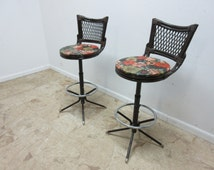 Unique Rattan Stool Related Items Etsy
