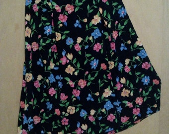Clearance was 35 now 27. 80s/90s Flower Pattern Maxi Skirt by F.T. Studio