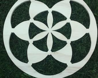 Seed Of Life Sacred Geometry Wood Carving (Blank)