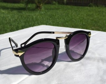 Geometric Sunglasses - BLACK
