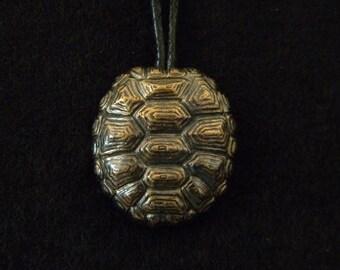Tortoise Shell: Bronze Pendant