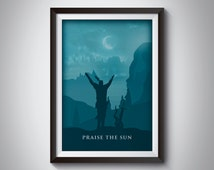 Dark Souls 3 Poster: Praise the sun & the moon over Irithyll