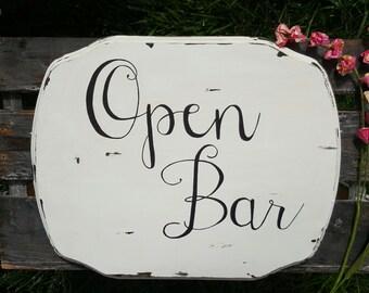 Open Bar wedding sign-Wedding bar sign